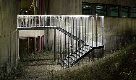 Heinrich-Heine-University, Düsseldorf; LED Lightline